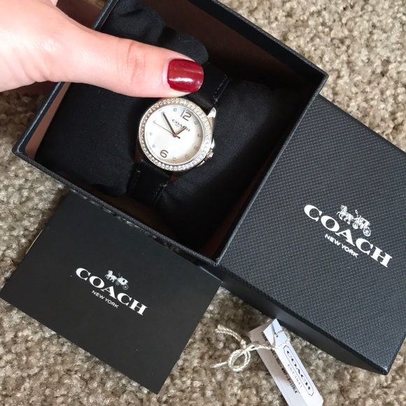Coach Accessories - Black band watch by Coach